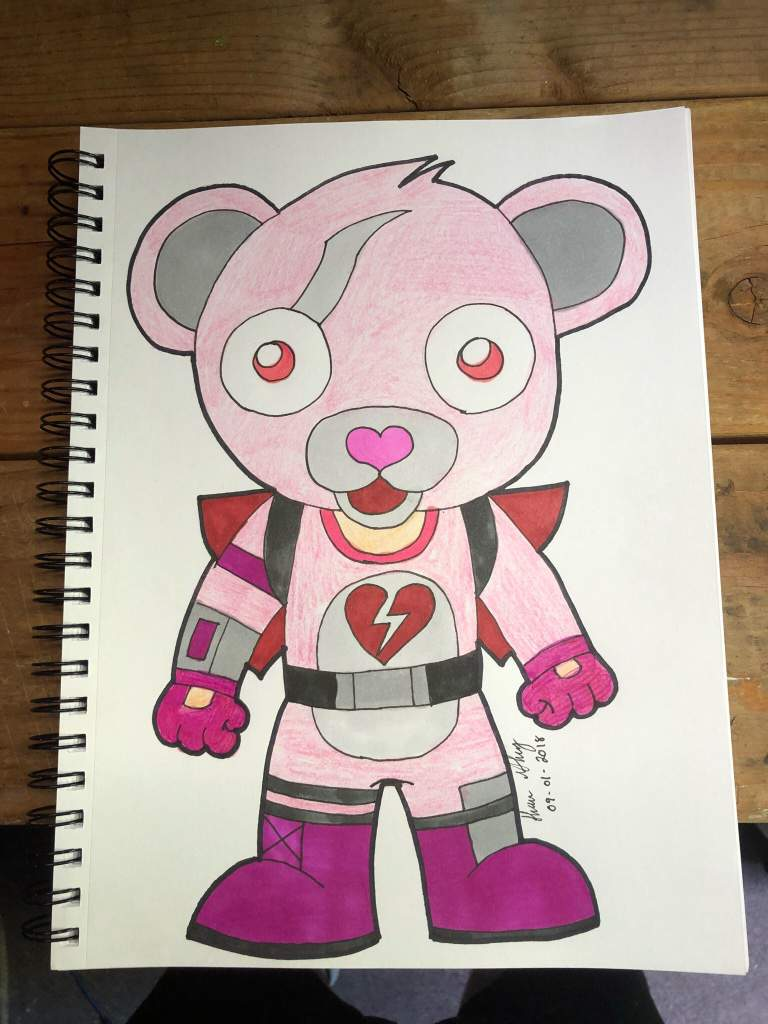 Fortnite Bear Original Drawing From Cartooning For Kids On