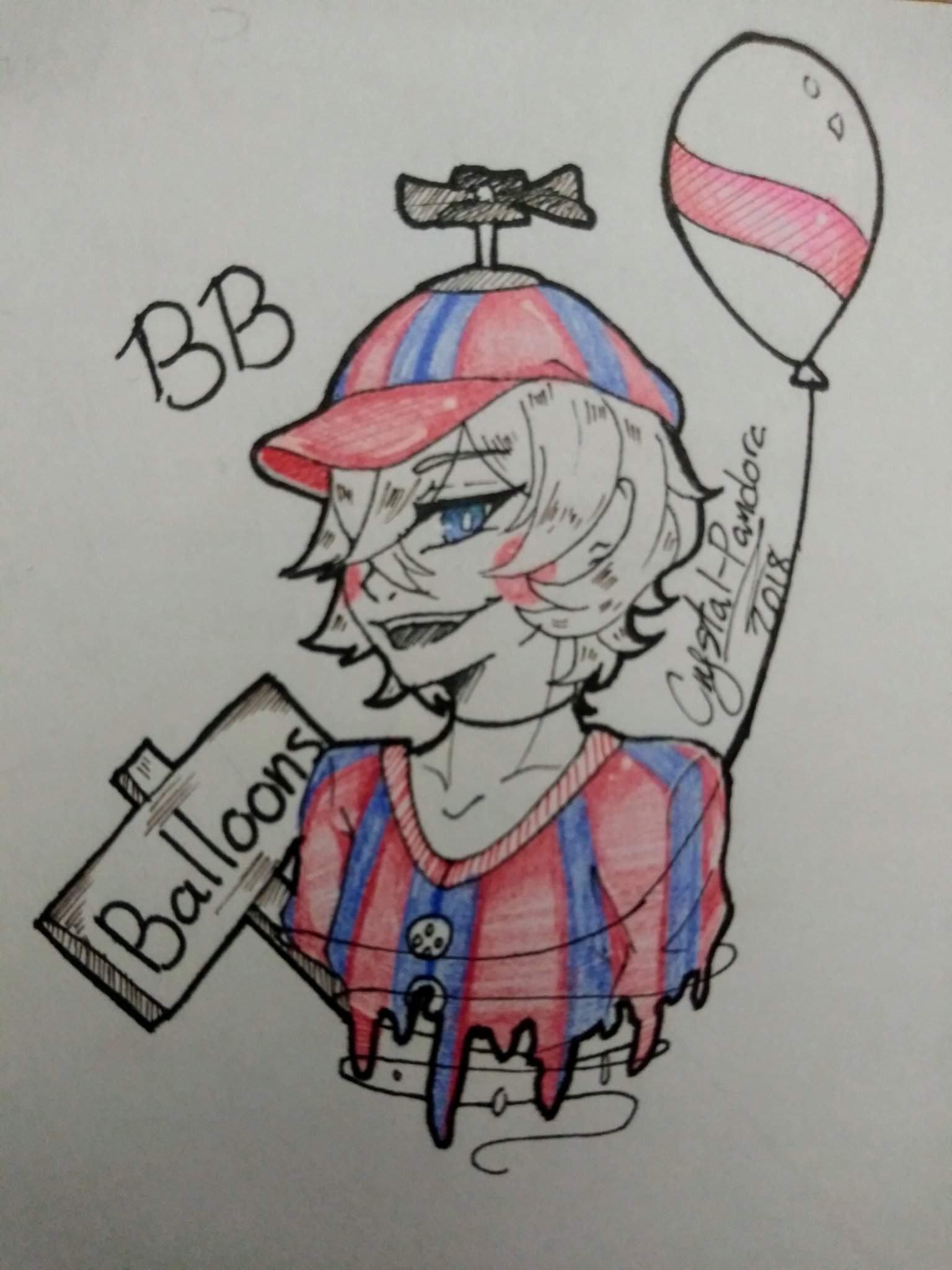 Balloon Boy Quick Drawing Five Nights At Freddy S Amino