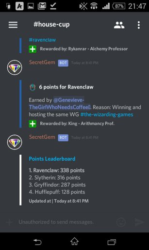 Hphm discord house cup updated results | Hogwarts Mystery Amino Amino