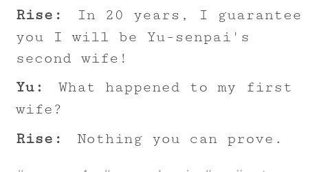 Incorrect Persona 4 Quotes: Rise | Persona 4 Amino Amino