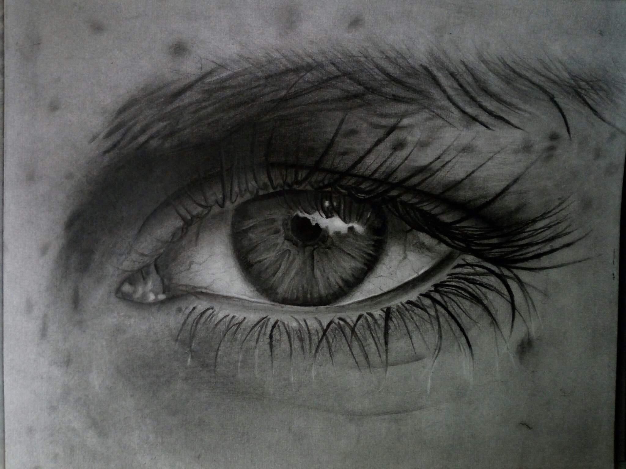 Como dibujar un (OJO REALISTA) a lapiz / PASO A PASO/ how to ...