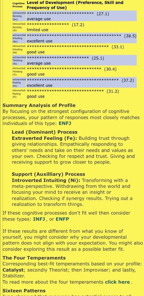 quiz results   Wiki   Myers Briggs [MBTI] Amino
