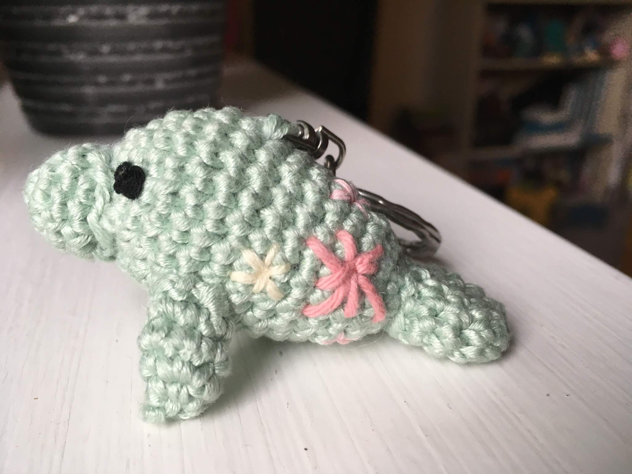 Manatee Amigurumi | Free Crochet Pattern | Hooked by Kati | 1536x2048