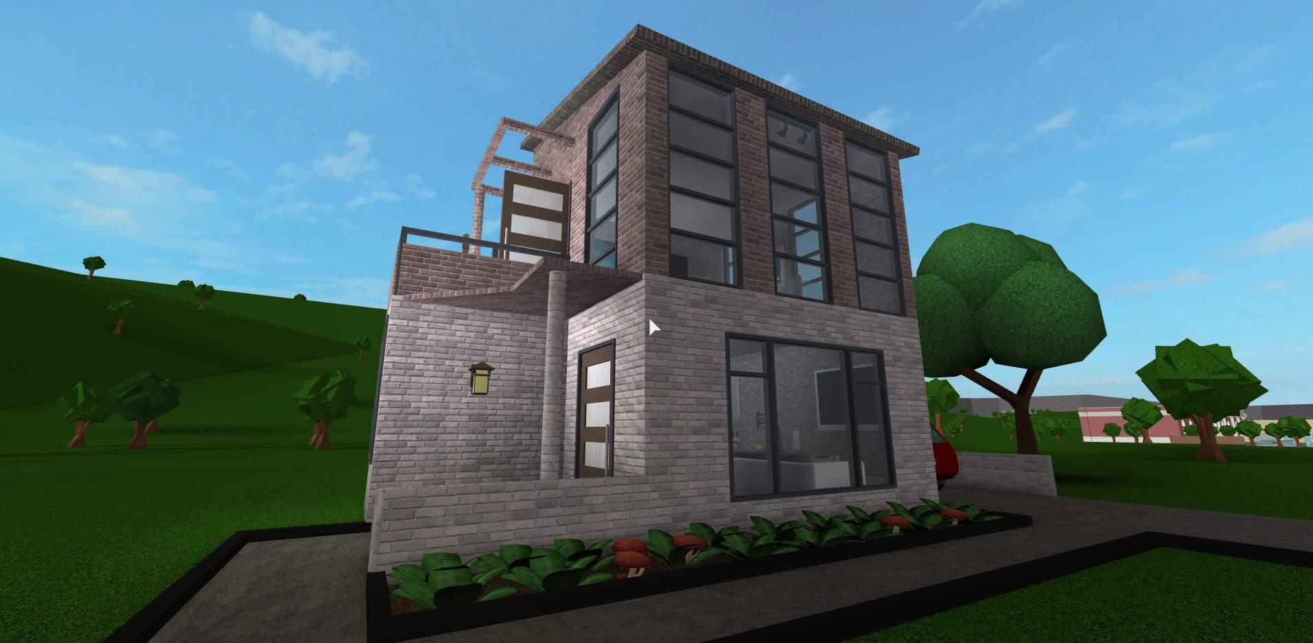 Small Modern House Roblox Bloxburg Small Modern House Build Roblox Amino