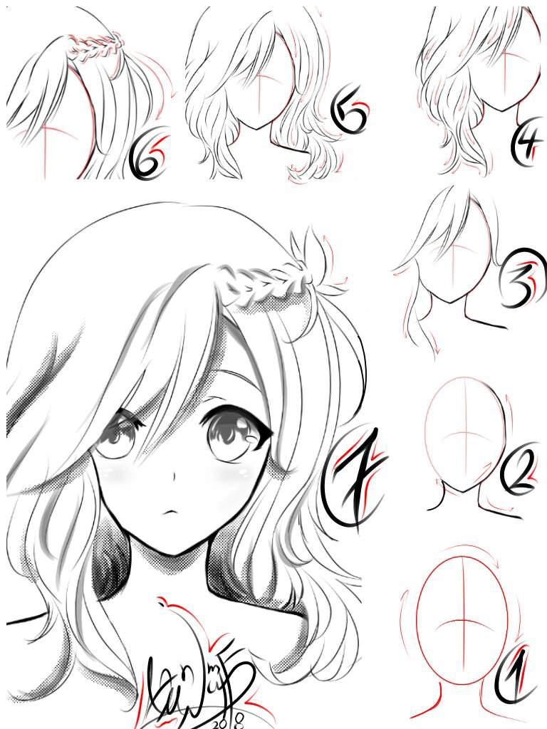 تعليم رسم فتاة انمي الجزء 1 Arab Art تعلم الرسم Amino