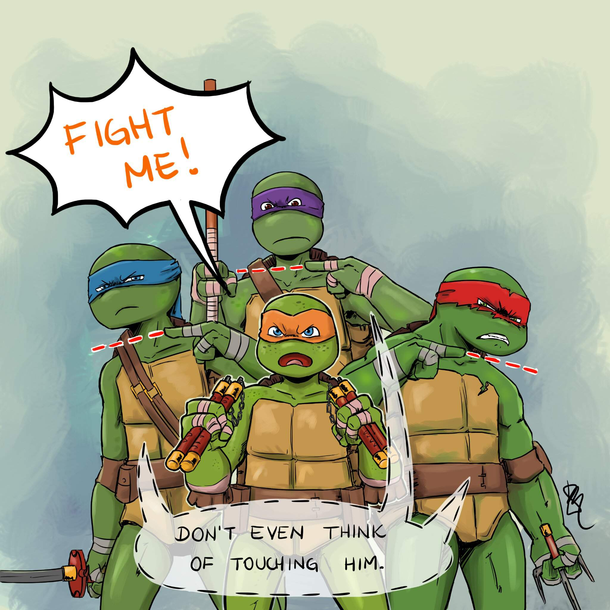 Fight Me Fanart Tmnt Hq Amino