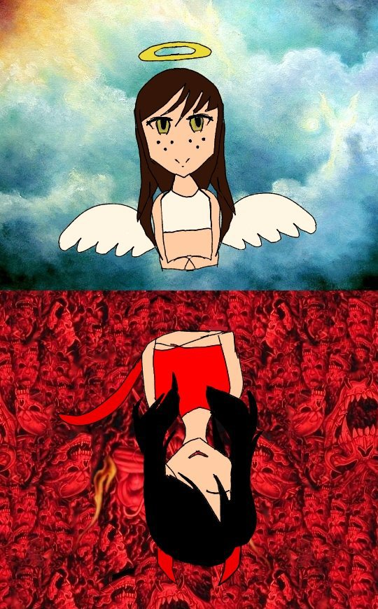 Roblox Devil Hair - Devil Vs Angel Roblox Amino