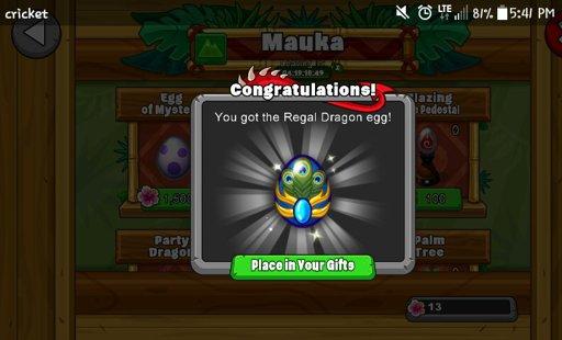 Regal Dragon Dragonvale Amino