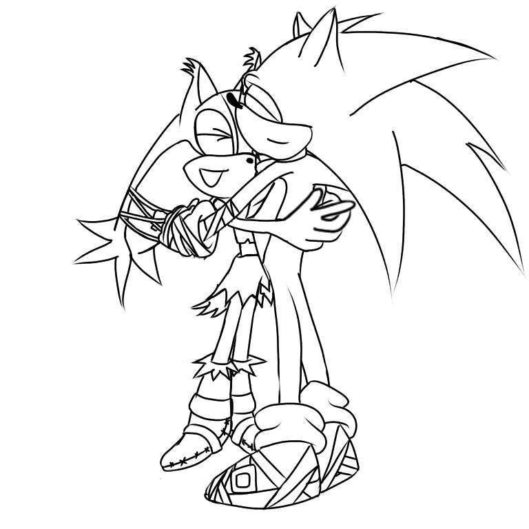 "sonic & sticks ""sibling love"" | sonic the hedgehog! amino"