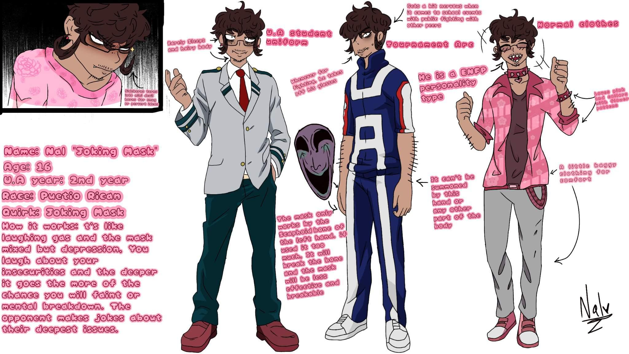 Nal Joking Mask Agni Bnha Persona Bio My Hero Academia Amino