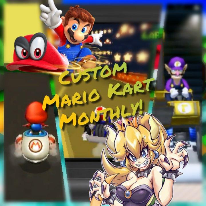 Mario Odyseey And Bowsette In Mkwii Custom Mario Kart Monthly 1 Mario Kart Amino