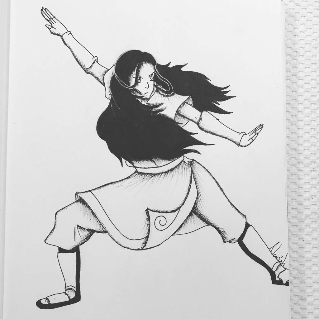 Inktober day 2 katara from avatar the last airbender check out the full drawing video on my channel nor1sh on youtube if you want to