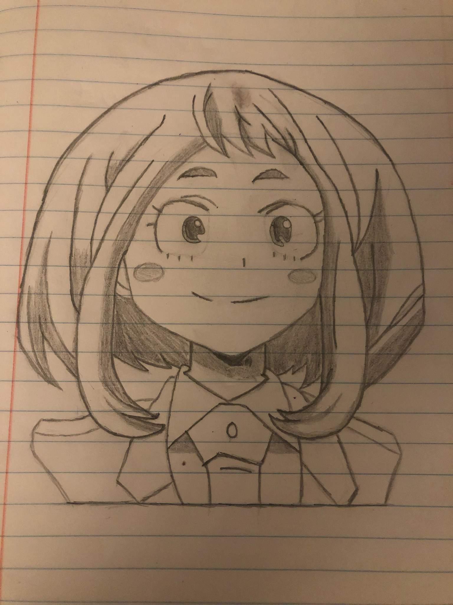 Ochaco Uraraka Drawing Anime Art Amino
