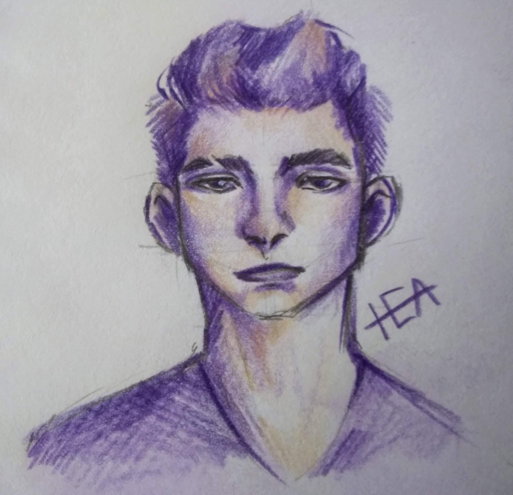 Well I Guess This Is A Sketch Lol Inktober Art Drawing Painting Pencil Purple Art Amino