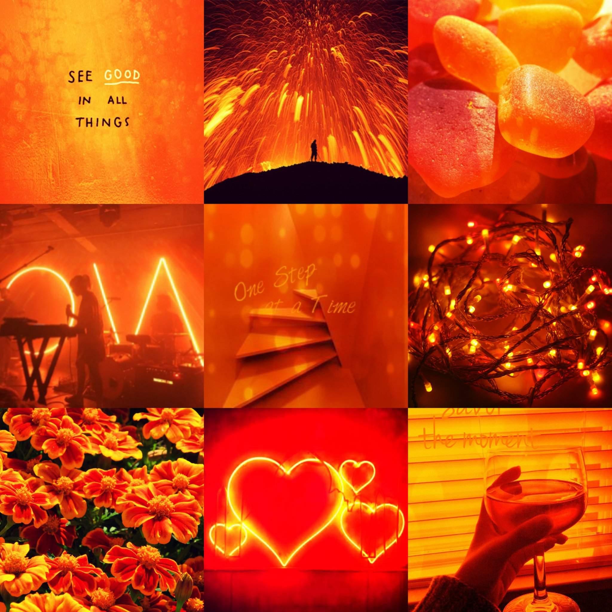 21+ Orange Aesthetics
