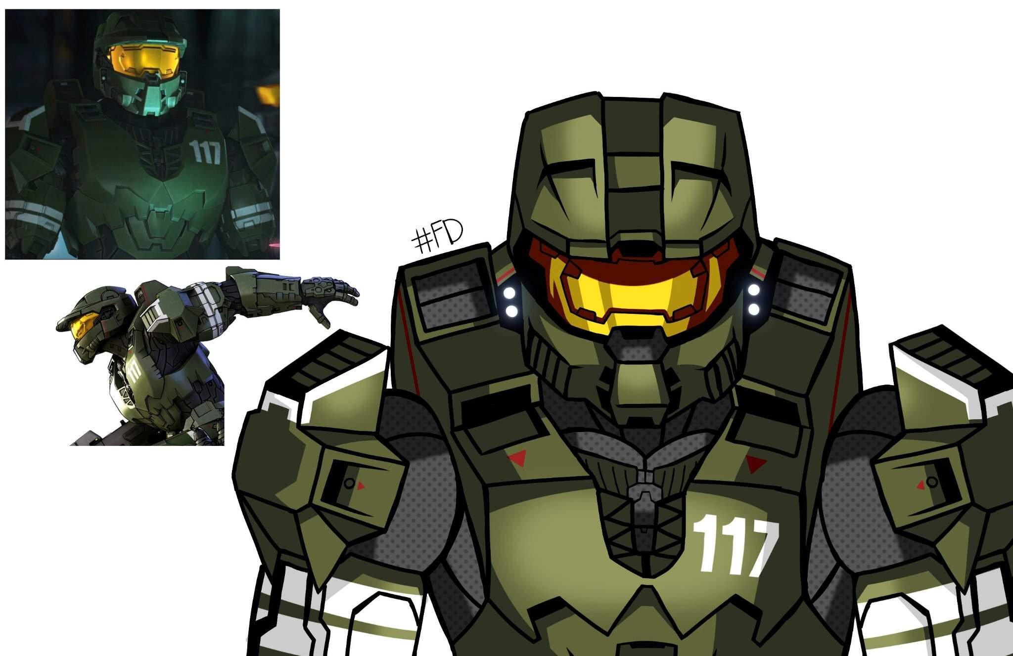 Master Chief Halo Legends Por Mi Dibujos Y Animes Amino