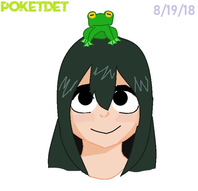 A Drawing Of Tsuyu Being Cute As She Is Asui Tsuyu Tsu