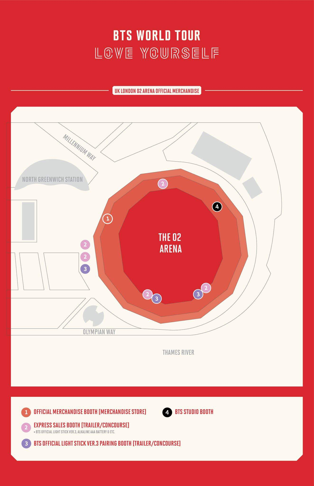 BTS 'Love Yourself' O2 ARENA INFORMATION + PRICES | ARMY's Amino