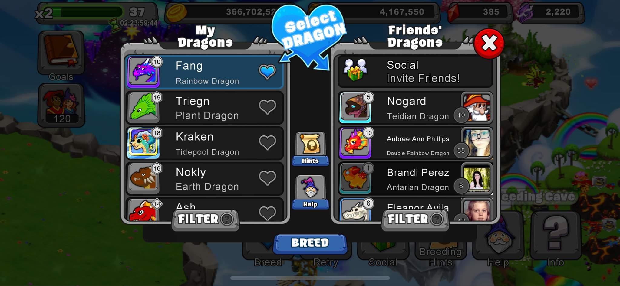 Cooperative Breeding Dragonvale Amino