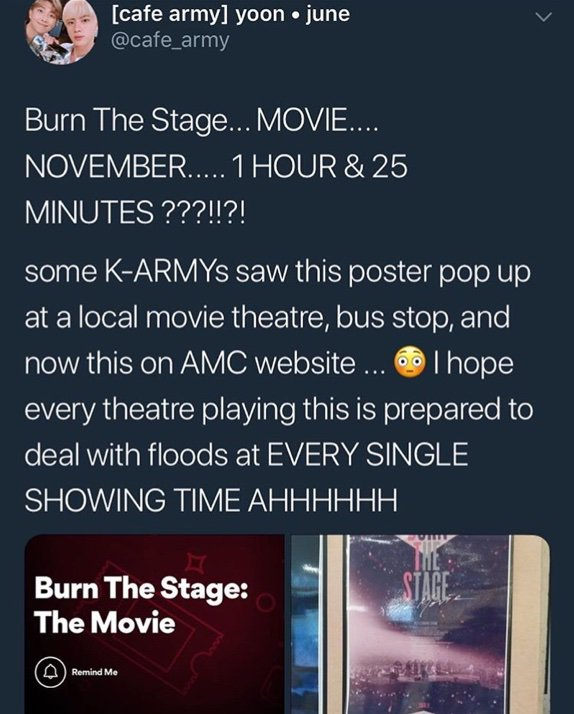 Burn The Stage Akan Ada Di Bioskop Cgv Bts Army Indonesia Amino