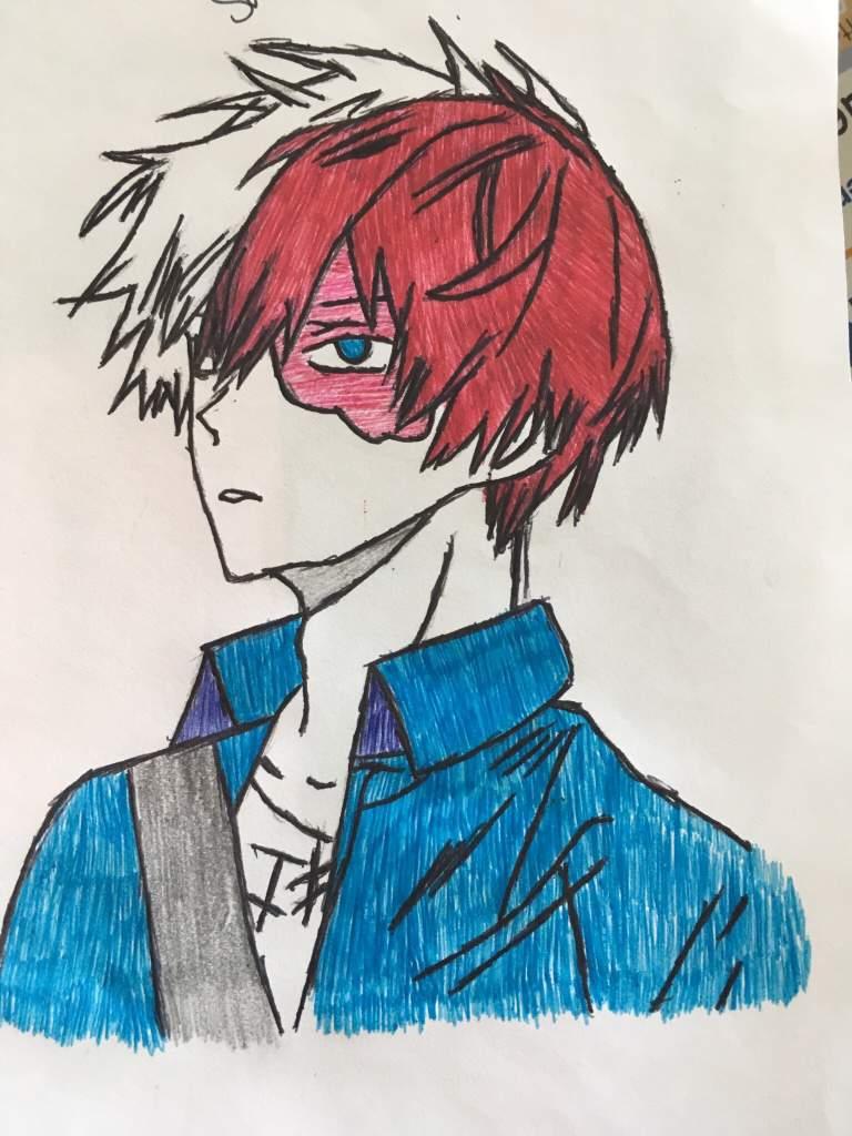 Drawing Of Shoto Todoroki My Hero Academia Amino