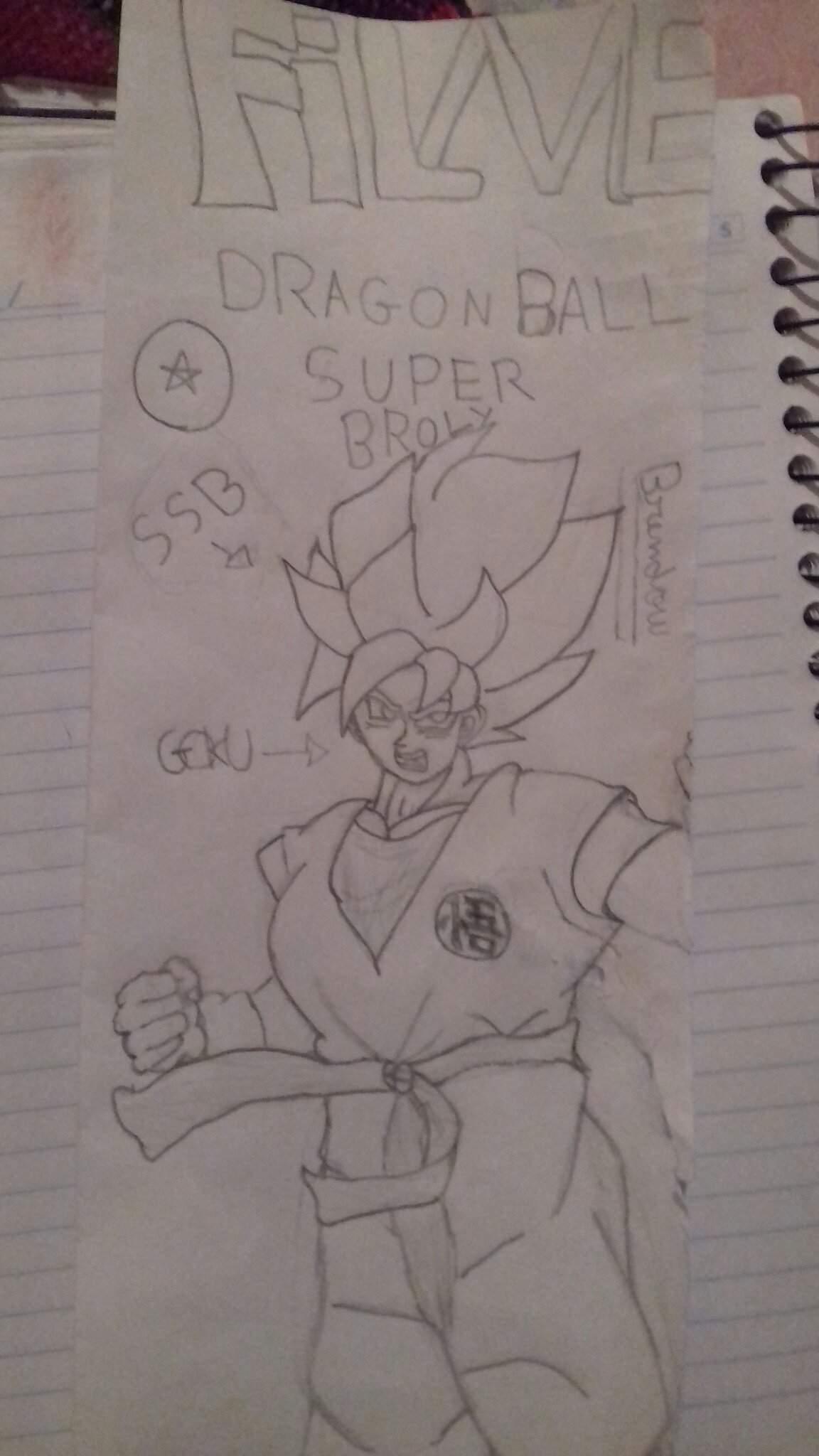Desenho Do Novo Goku Do Filme Dragon Ball Super Broly