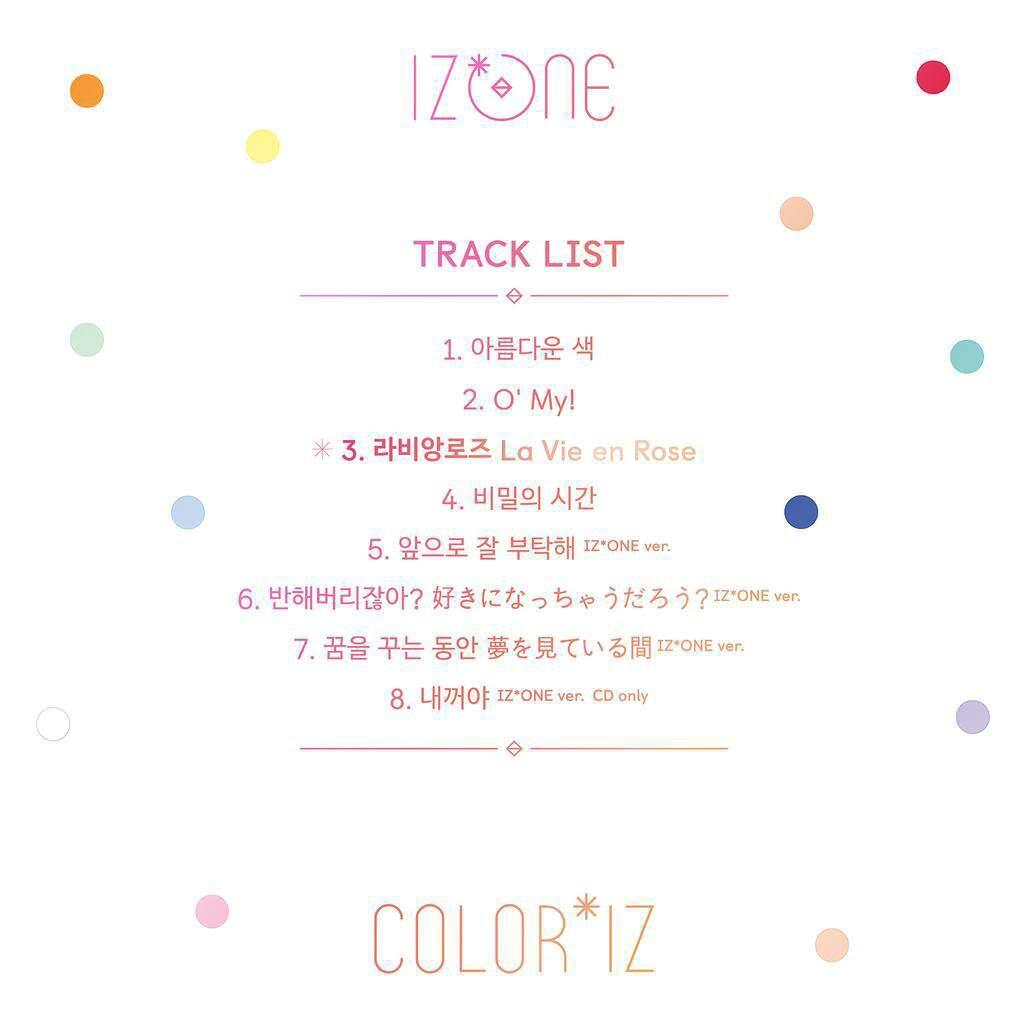 Tracklist is here! | IZ*ONE (아이즈원 | アイズワン) Amino