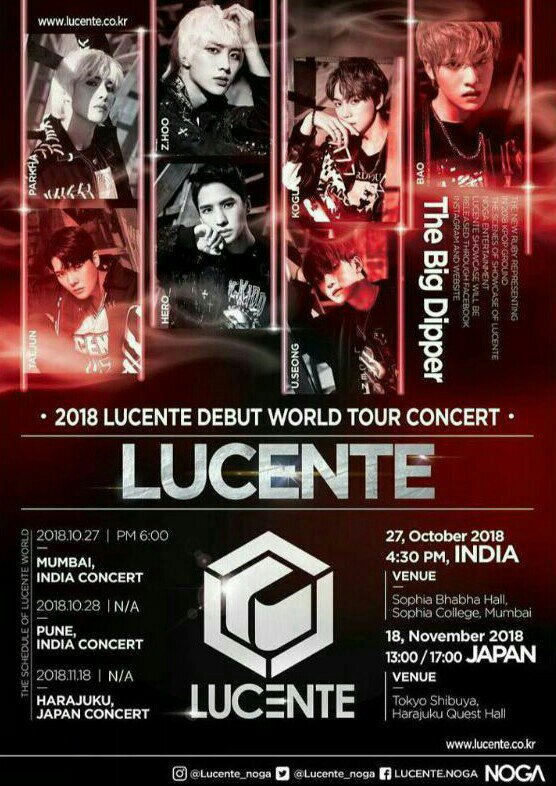 LUCENTE World Tour (FREE TICKETS AT INDIA VISIT FIRST COME FIRST