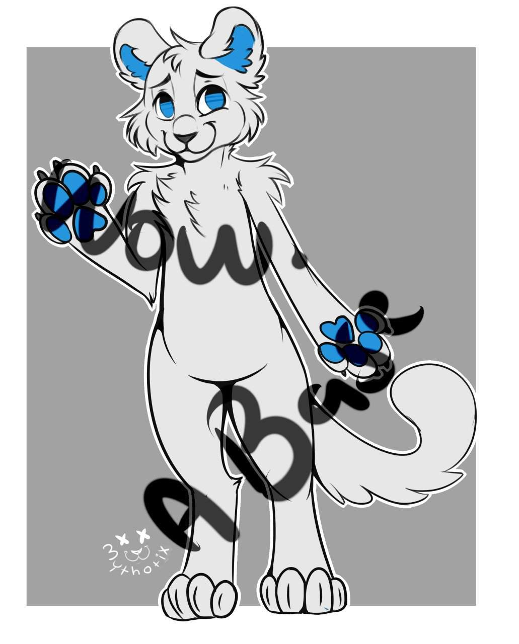 New Free To Use Adopt Ref Base Big Cat Ref Sheet Furry Amino