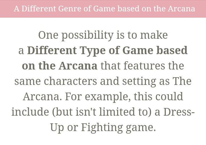 After Arcana (Read Description)   The Arcana: Visual Novel Amino