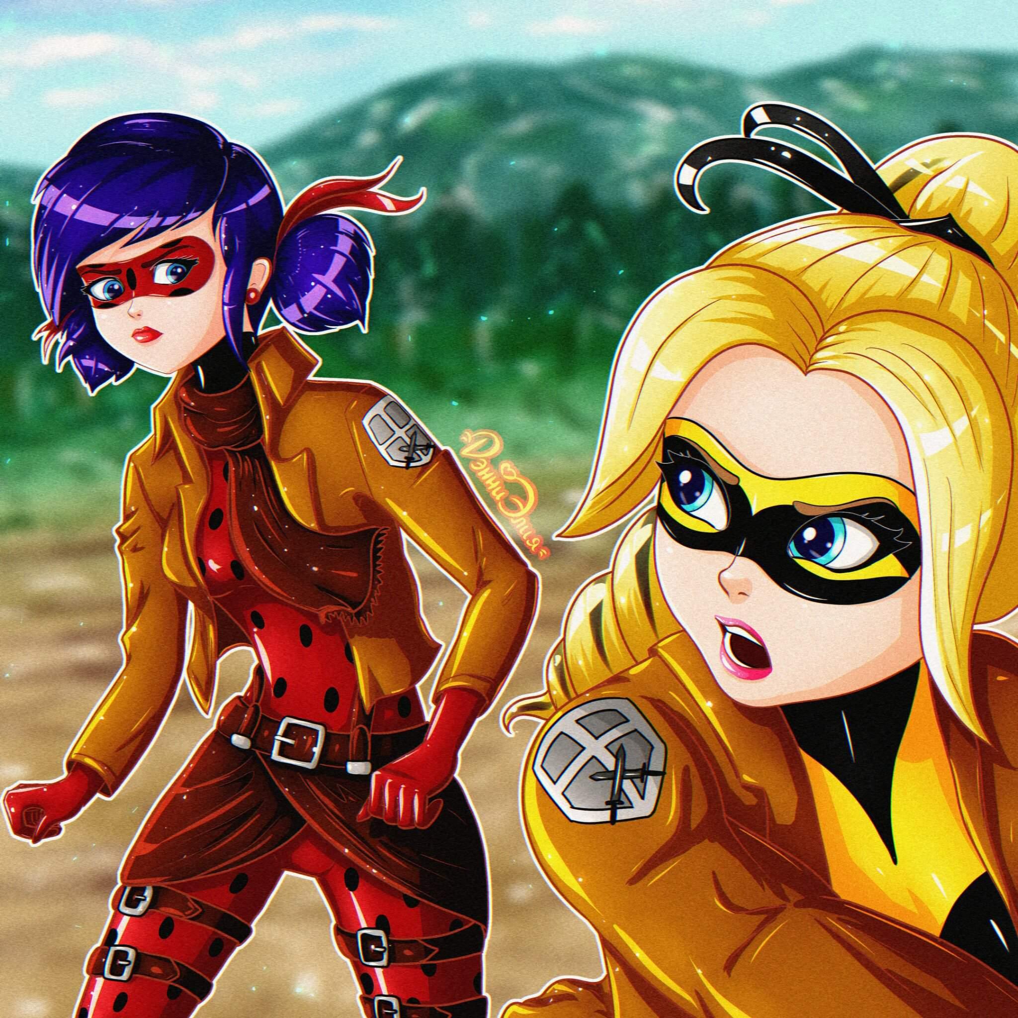 Кроссовер с аниме «Атака Титанов» | 🐞Russian Miraculers🐞 Amino