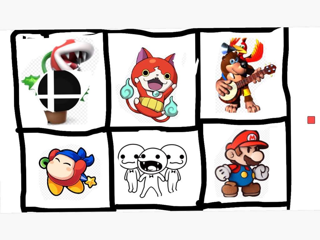 Super smash bros dlc bingo board | Smash Ultimate Amino