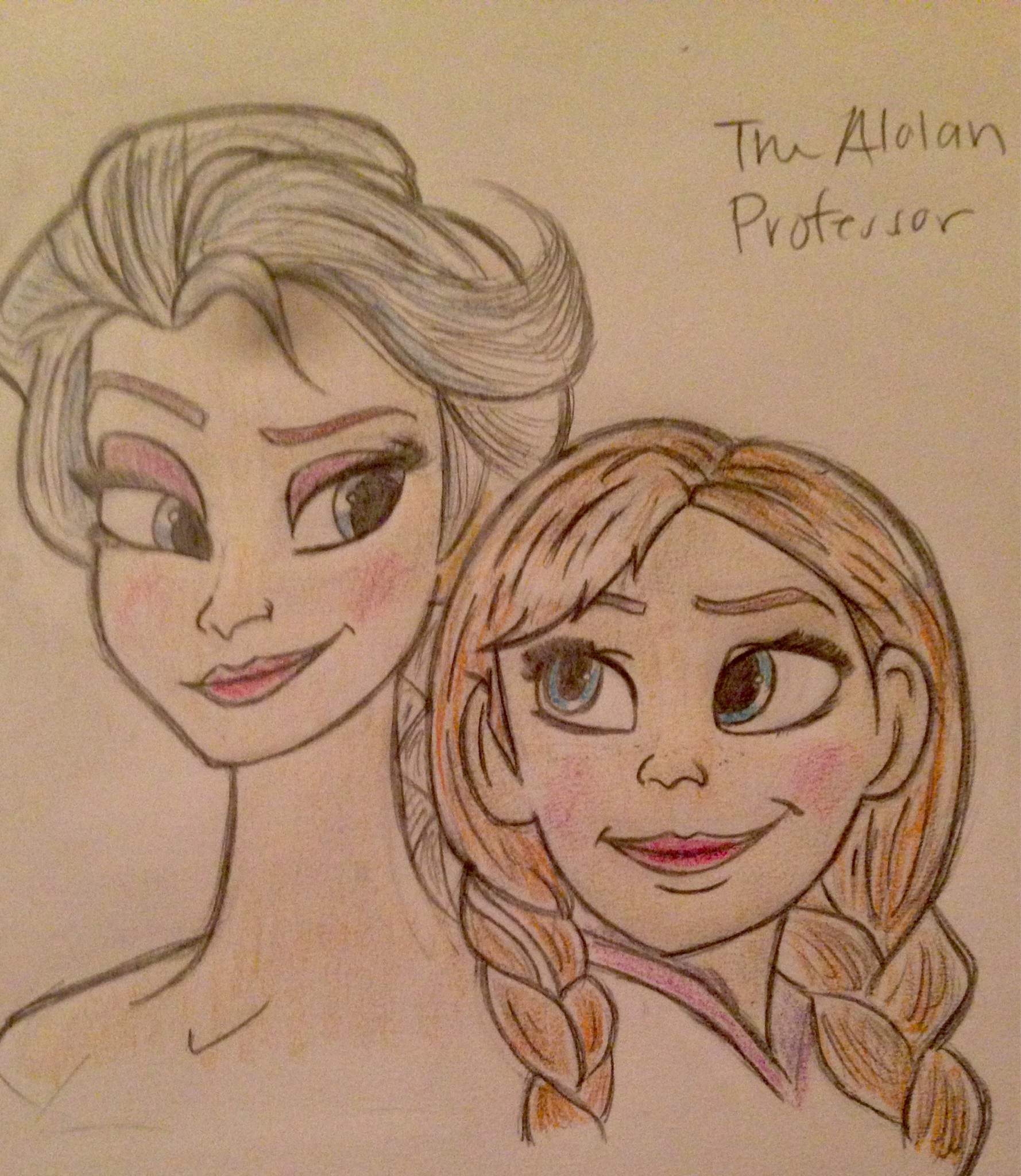 anna and elsa drawing disney amino