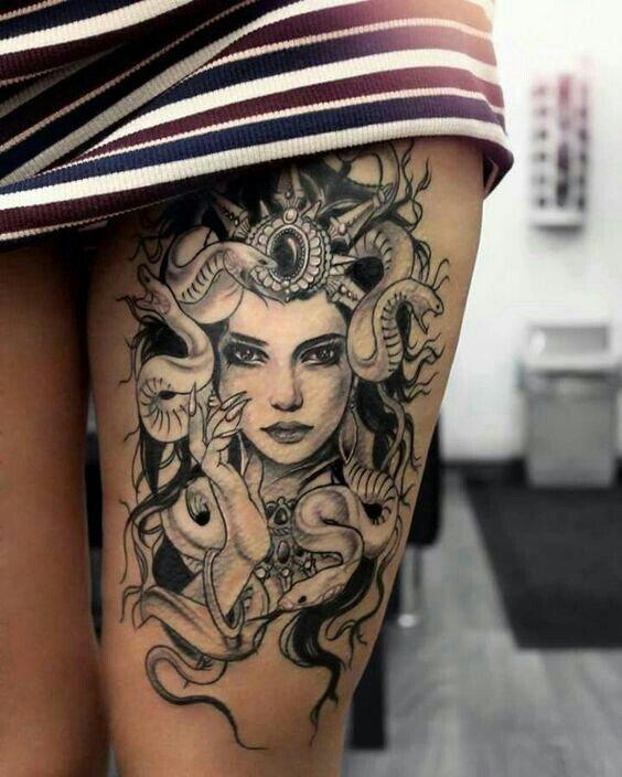 Medusa Tatuagem Amino