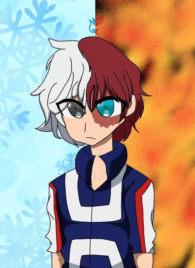 Icyhot Shoto Todoroki Chibi My Hero Academia Amino