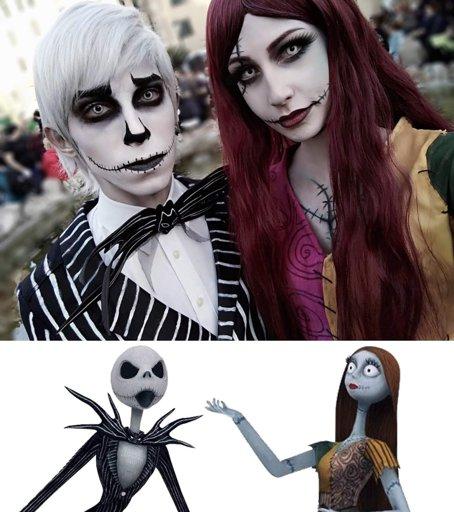 Jack and Sally Cosplay Make-up - Nightmare Before Christmas   Cosplay Amino