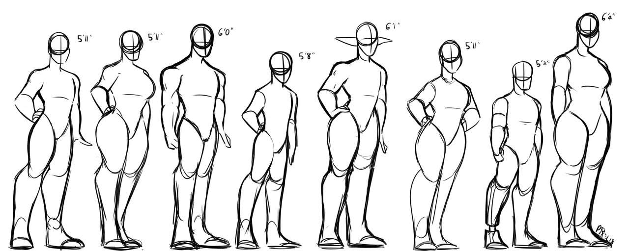 Oc Body Type References Arts And Ocs Amino