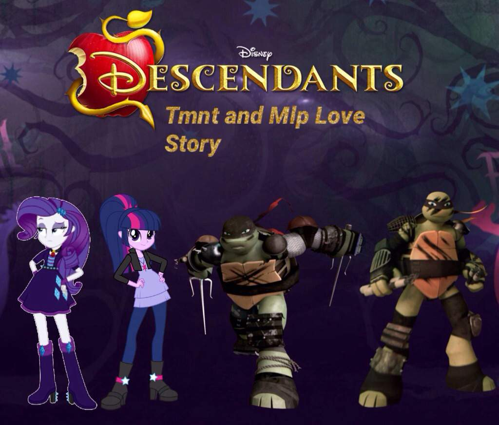 Tmnt and Mlp Love Story Descendants Chapter 7 Evil Like Me | TMNT