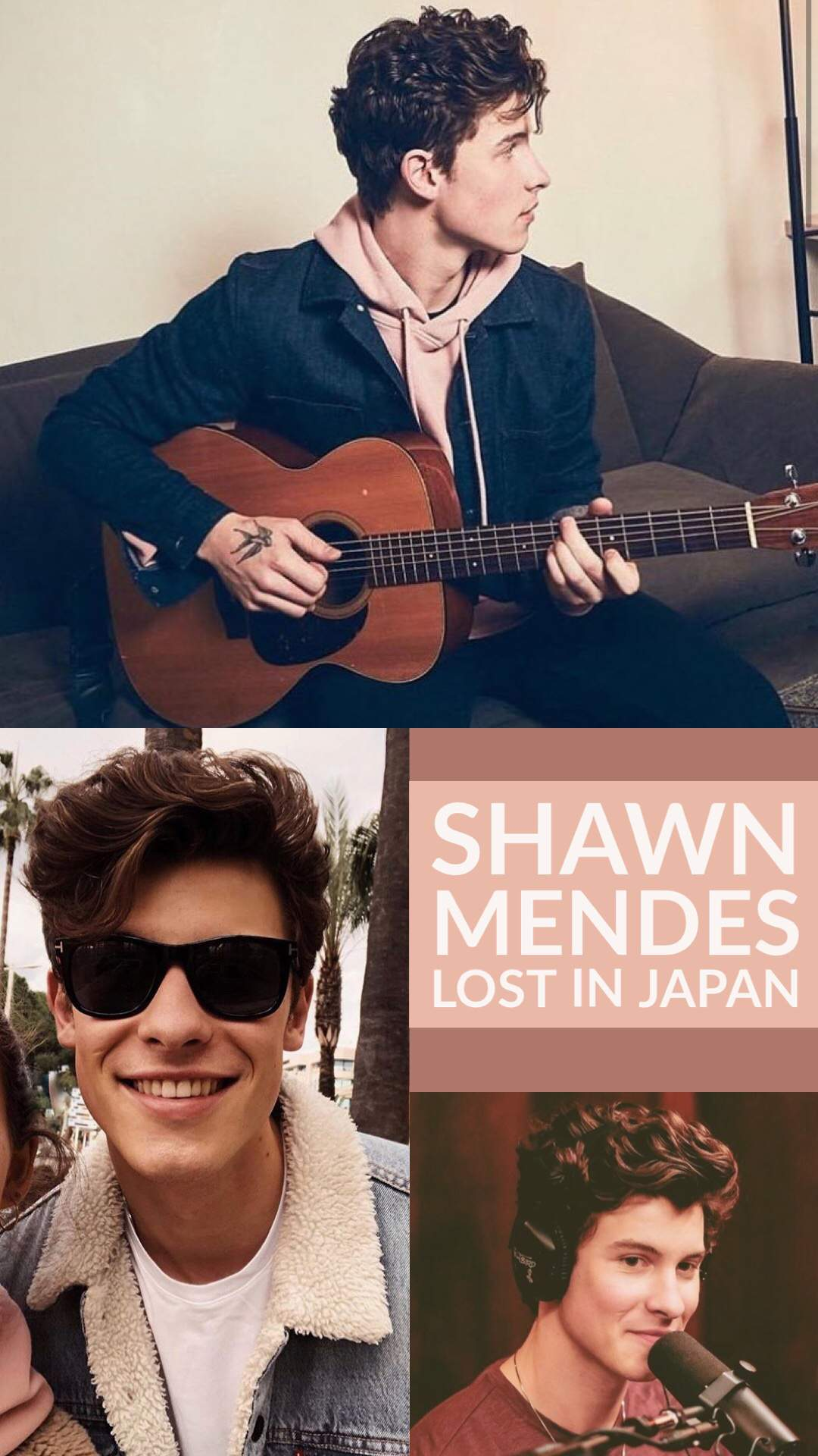 Lost In Japan Collage Wallpaper Size Shawn Mendes Army