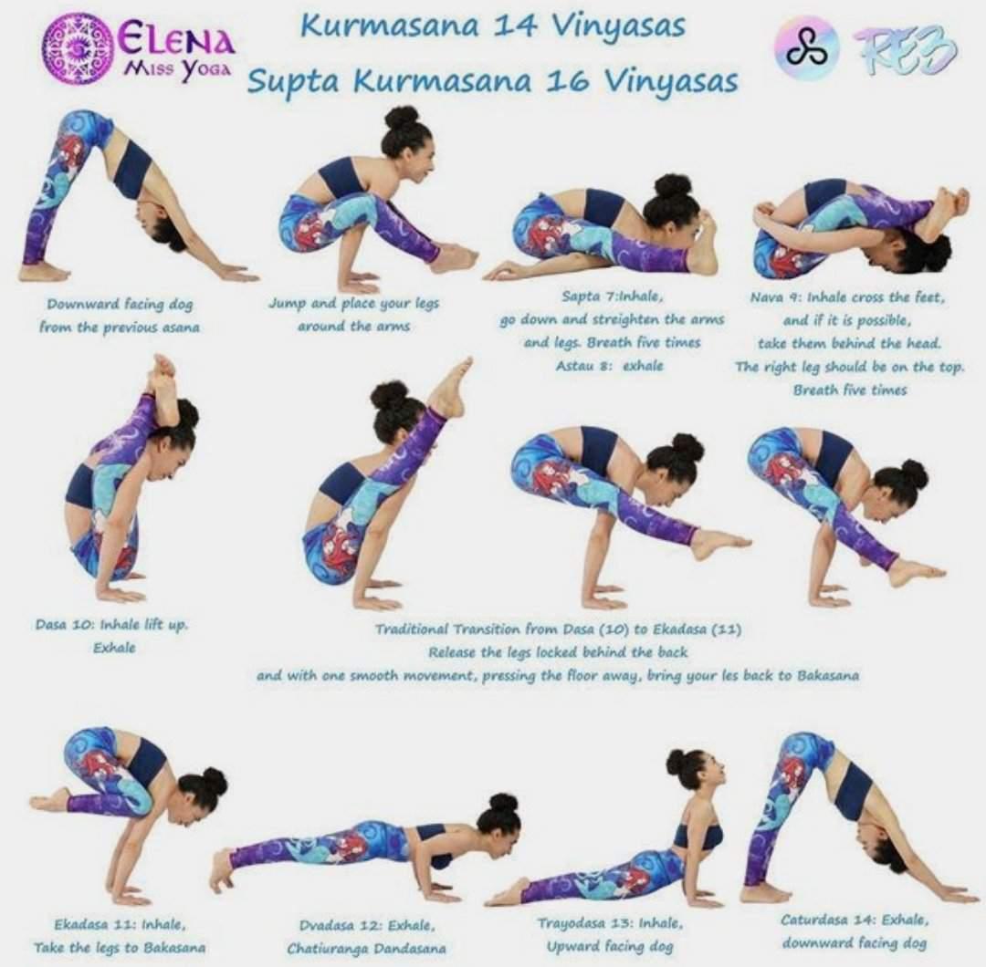 Kurmasana Yoga Sequence