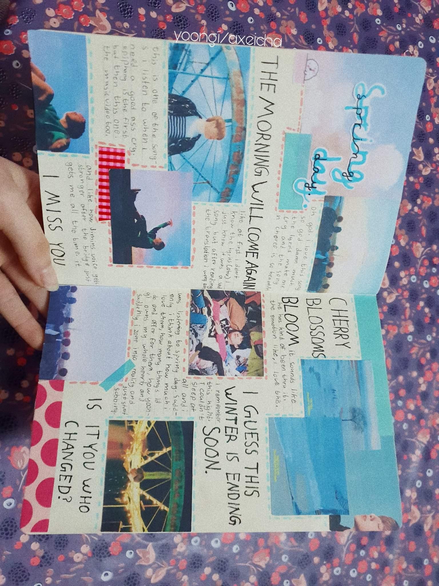 Spring Day Spread | Kpop journaling Amino