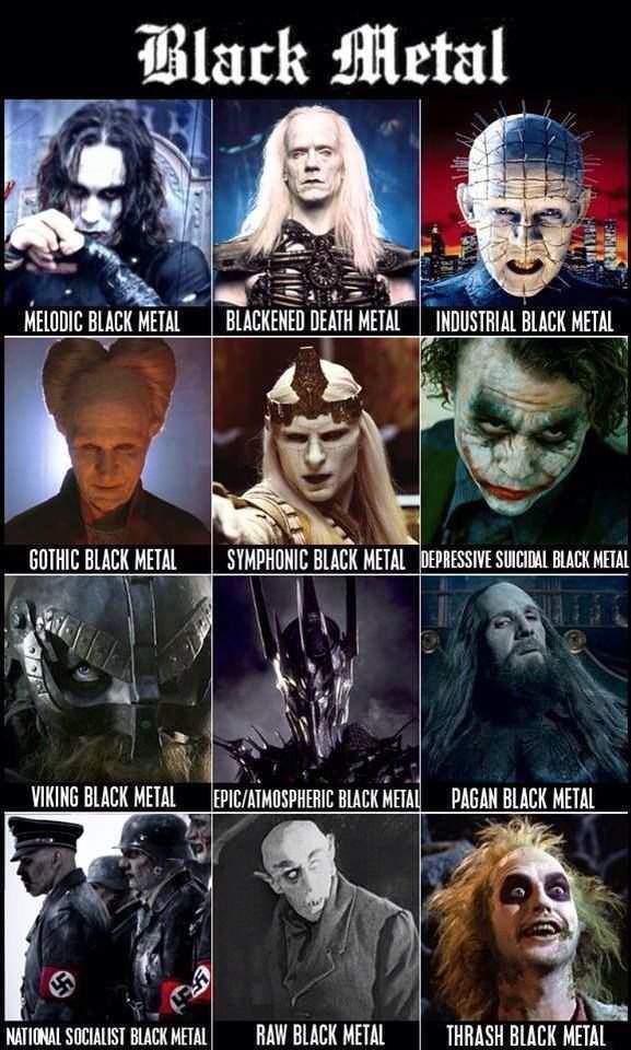 El Black Metal Es Famoso En El Mundo Del Cine Metal Memes