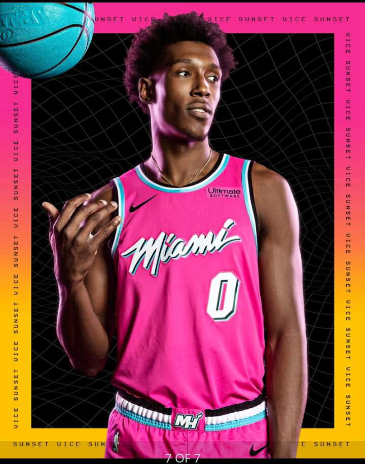 huge selection of 7bc98 3bee9 Miami Heat Sunset Vice Uniforms | Hardwood Amino