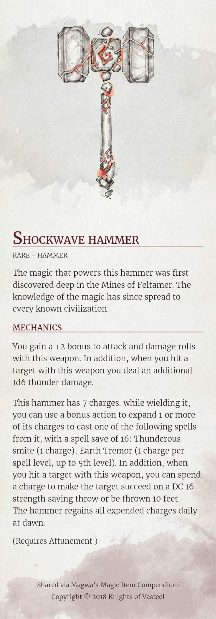 Homebrew item | Dungeons & Dragons (D&D) Amino