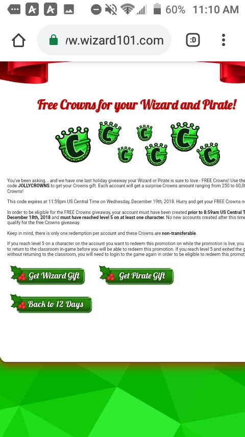12 days of the spiral|Day 12[FREE CROWNS] | Wizard101 Amino