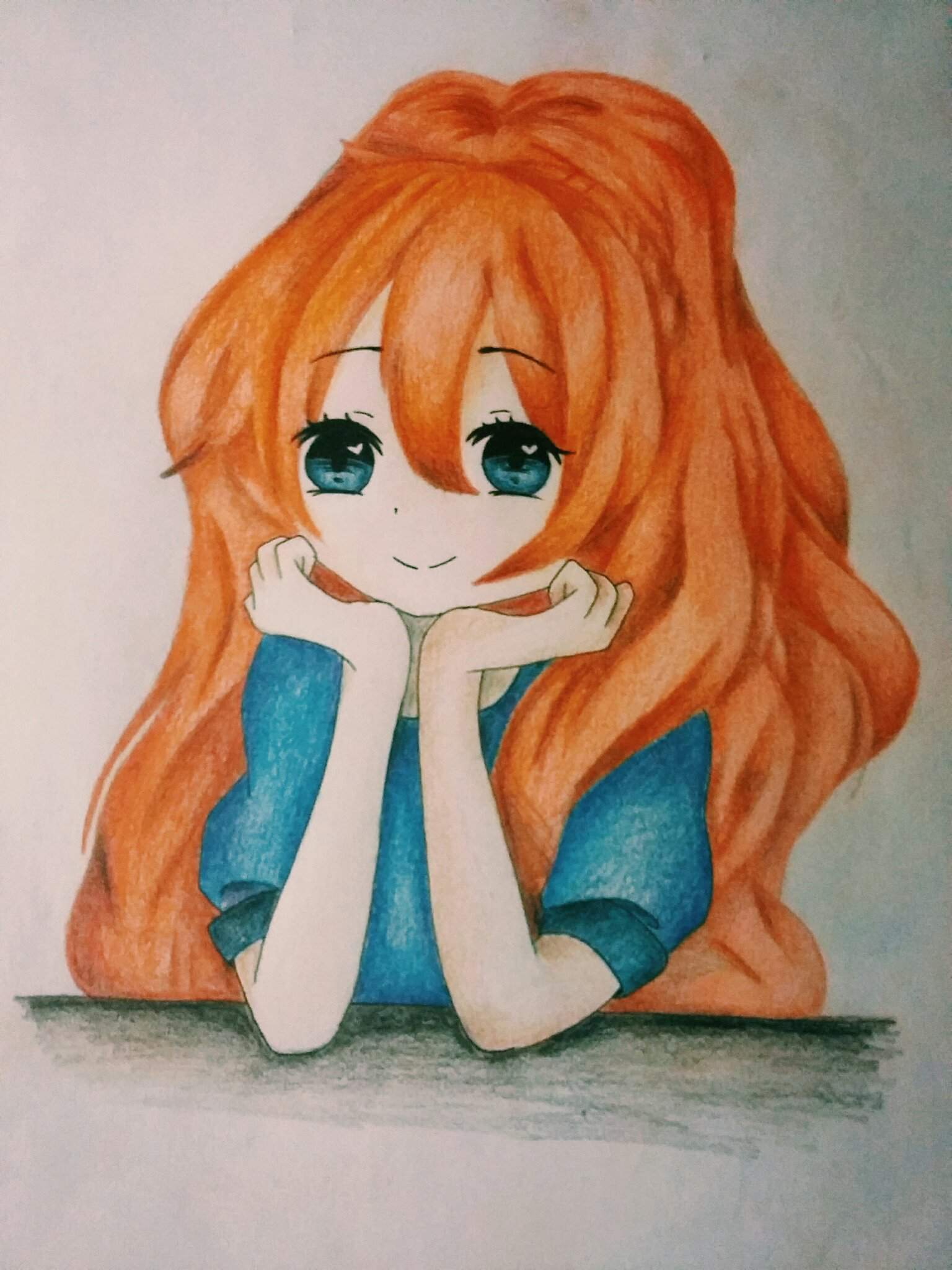 Orange hair girl  Romance Anime Amino