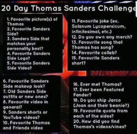 20 Day TS Challenge Day Two | Thomas Sanders Fans Amino Amino