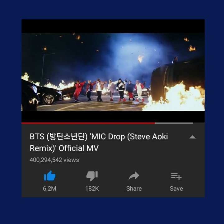 MIC DROP (Steve Aoki Remix) HITS 400M VIEWS ON YOUTUBE
