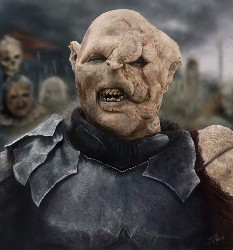 How do the orcs in the Lord of the Rings manage to get