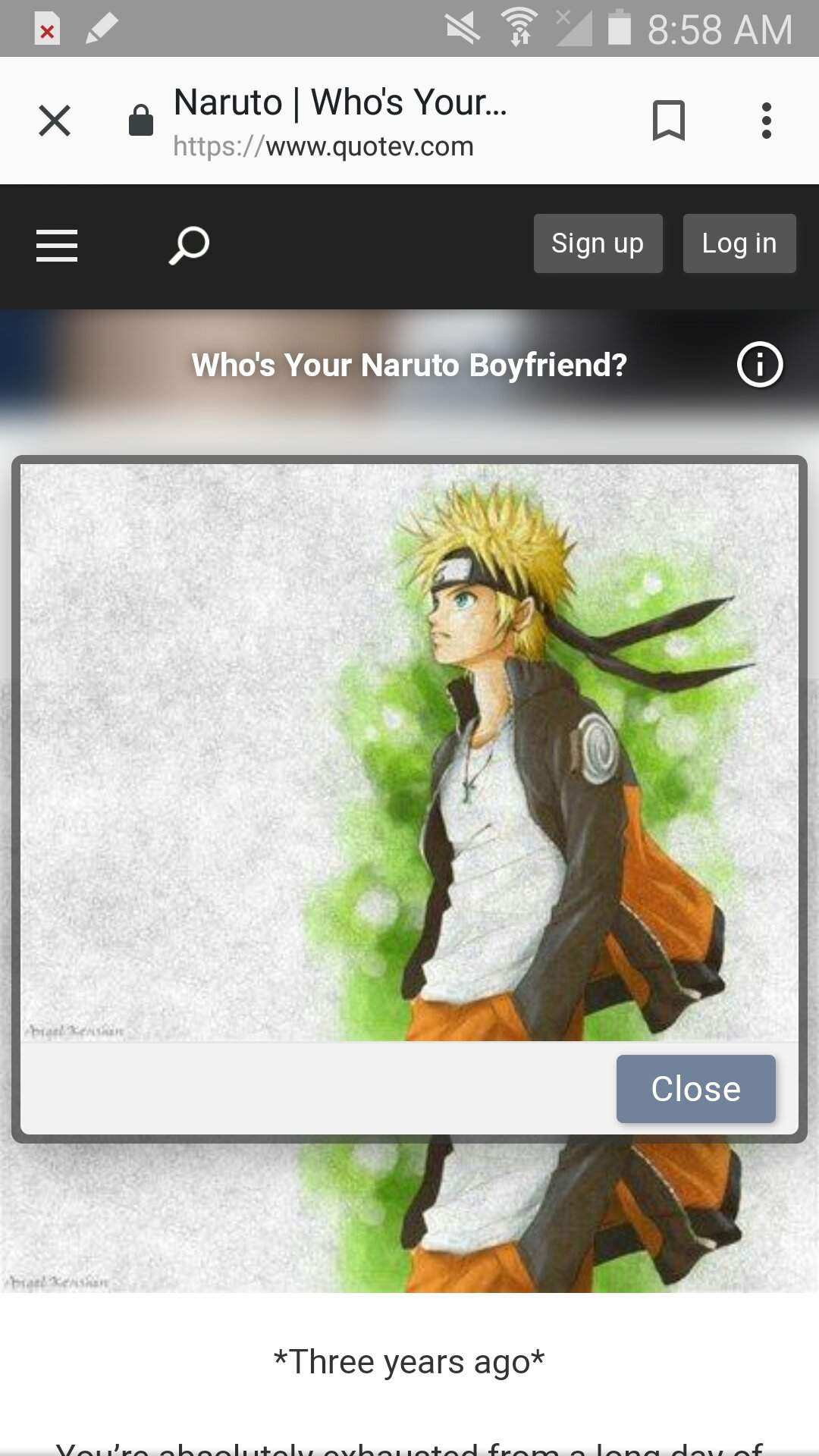 Bf quiz naruto Who Is
